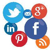 Social presence icons
